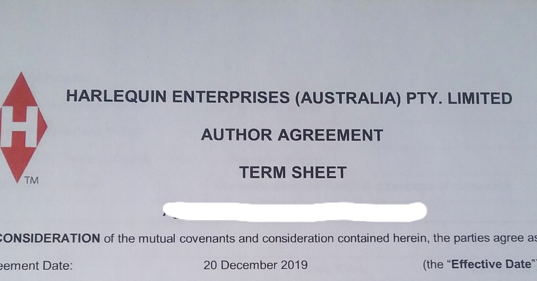 Harlequin Australia The Artist's Secret Sonya Heaney Contract 20th December 2019