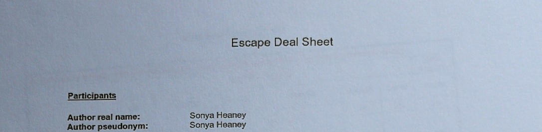 The Artist's Secret Sonya Heaney Escape Deal Sheet 1